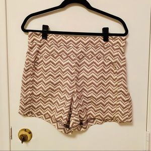 Anthropologie Cartonnier chevron shorts
